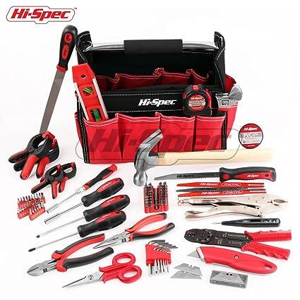 hi spec 101 pc extensive tool set of most popular tools for rh amazon com Rotary Tool Storage DIY Power Tool Storage DIY