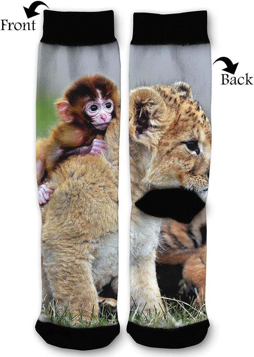 YISHOW Little Monkey Little Tiger Little Lion Funny Crew Socks
