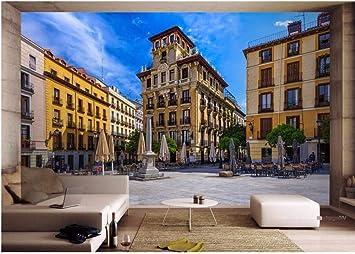 Ytdzsw Murales De Pared 3D Papel Tapiz Para Paredes Papel Tapiz Fotográfico 3D Vista De La Calle De Madrid, España Decoración De La Habitación Pintura Mural Personalizada-350X245Cm: Amazon.es: Bricolaje y herramientas