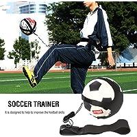 Fútbol Soccer Kick Trainer Manos libres Solo Soccer Training Belt Training Aid para niños Niños Adultos Ejercicios prácticos Training Waist Belt