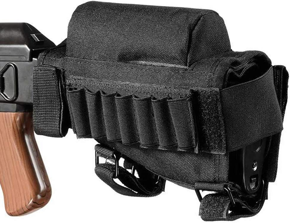 NaiCasy Taktisches Gewehr Wangenpolster Schulterst/ütze Halter Multifunktionskassetten Halter Utility Pouch schwarz