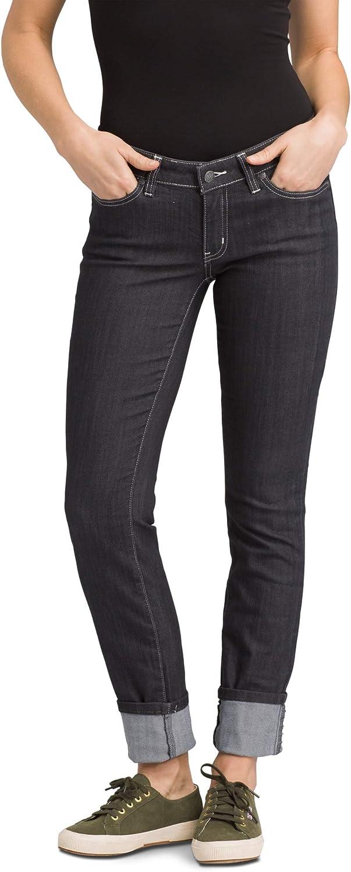 prAna - Women's Kara Soft Low-Rise, Narrow-Leg Stretch Jeans with Cuffed Ankle