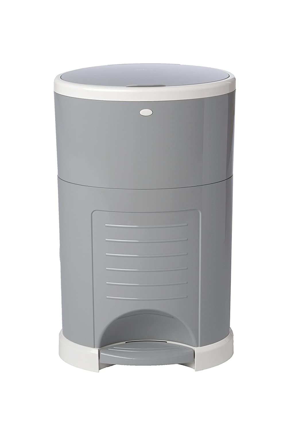Dekor Classic Hands-Free Diaper Pail | Easiest to Use | Just Step. Drop. Done! | Pail Won't Absorb Odors/Rust | 20 Second Bag Change | Most Economical Refill System | Gray 2-11126-1