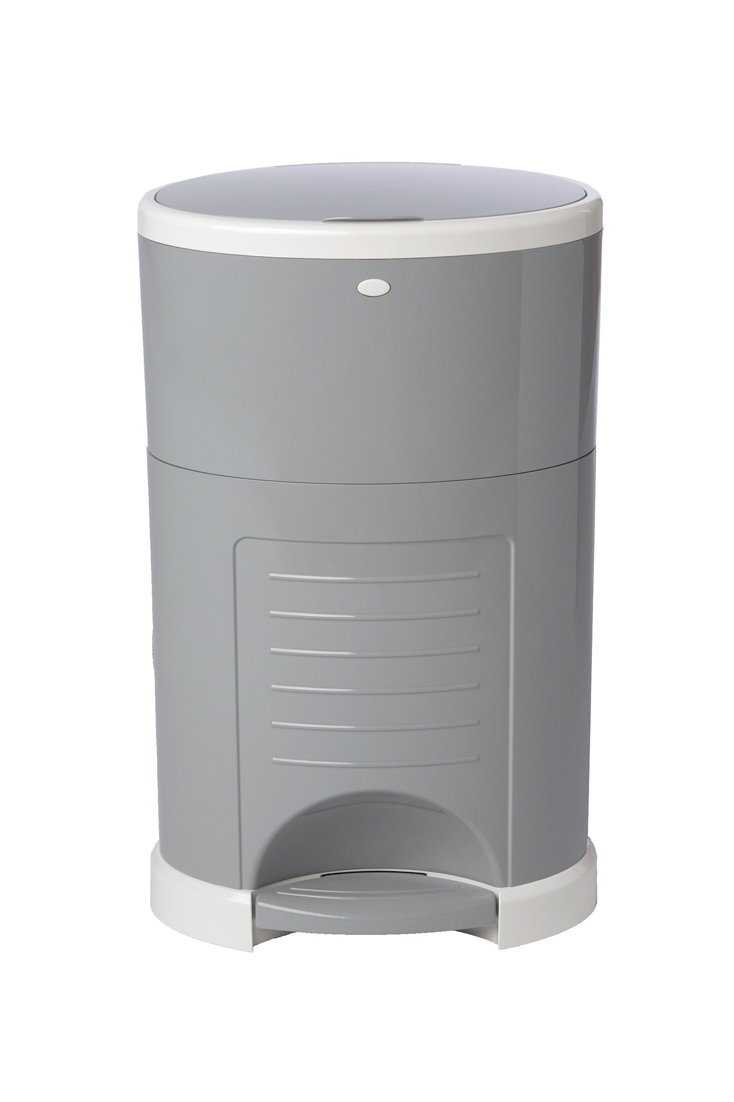 Dekor Classic Hands-Free Diaper Pail | Gray | Easiest to Use | Just Step - Drop - Done | Doesn't Absorb Odors | 20 Second Bag Change | Most Economical Refill System by DEKOR