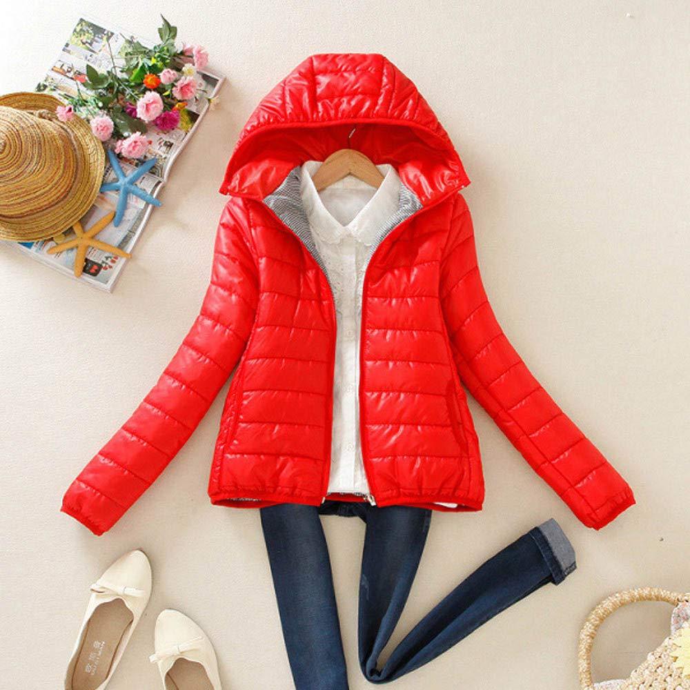 HHmei/_Coat Women Winter Warm Coat Slim Hooded Zipper Jacket Overcoat Blouse