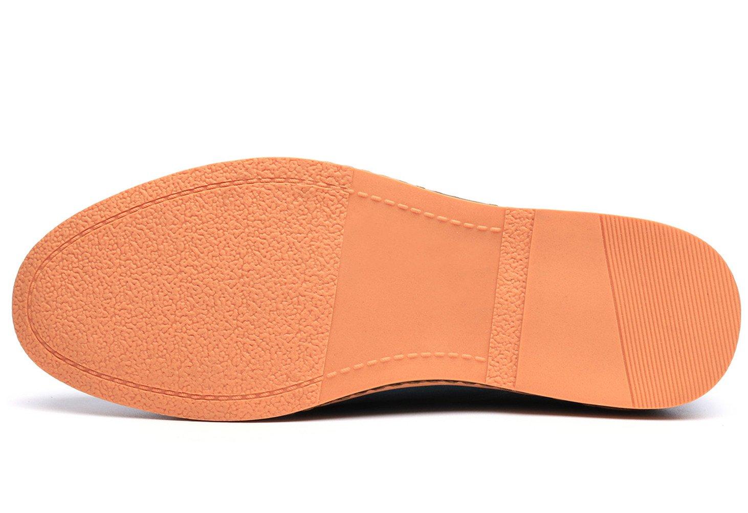 Dadawen Men's Brown Leather Oxford Shoe - 11 D(M) US by DADAWEN (Image #7)