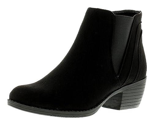 Nuevo Mujer Imitación Ante Vaquero Estilo Botines en medi - Negro - GB Tallas 3-8 - Negro, 40.5: Amazon.es: Zapatos y complementos