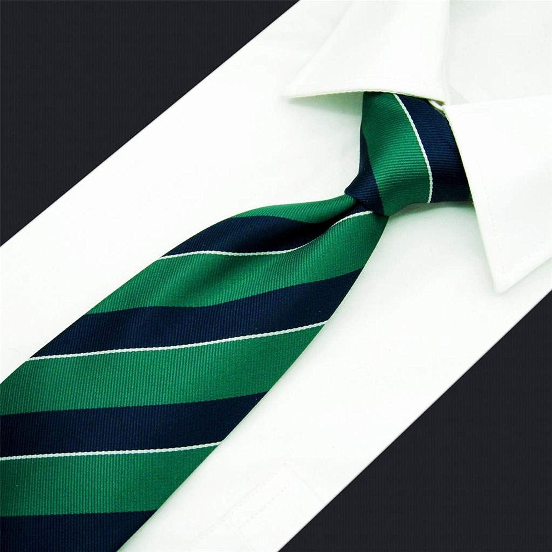Shlax/&Wing Stripes Mens Ties Blue Green Silk Necktie Formal