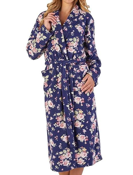 Slenderella Ladies Dressing Gown Floral or Scottie Dog Soft Microfleece  Shawl Collar Wrap Bathrobe  Amazon.co.uk  Clothing b1c3eccd7