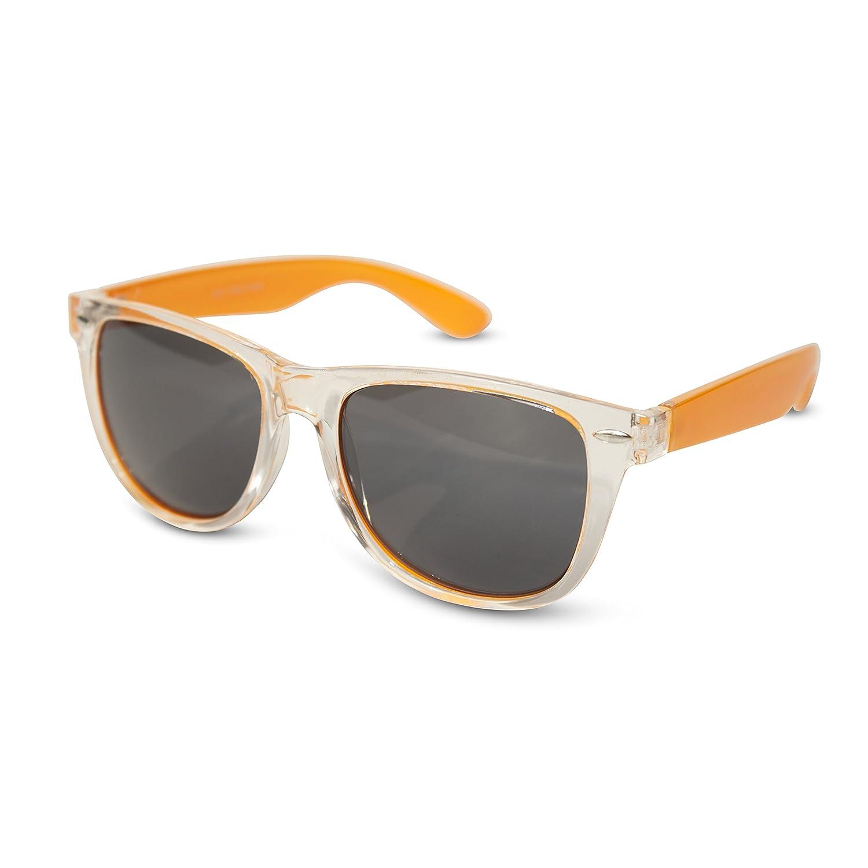 Transparent Face w// Colored Temples Black /& Colored Lens Wayfarer Sunglasses