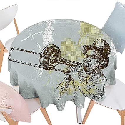 Amazon Com Spring Summber Tablecloth Jazz Music Decor Trumpet