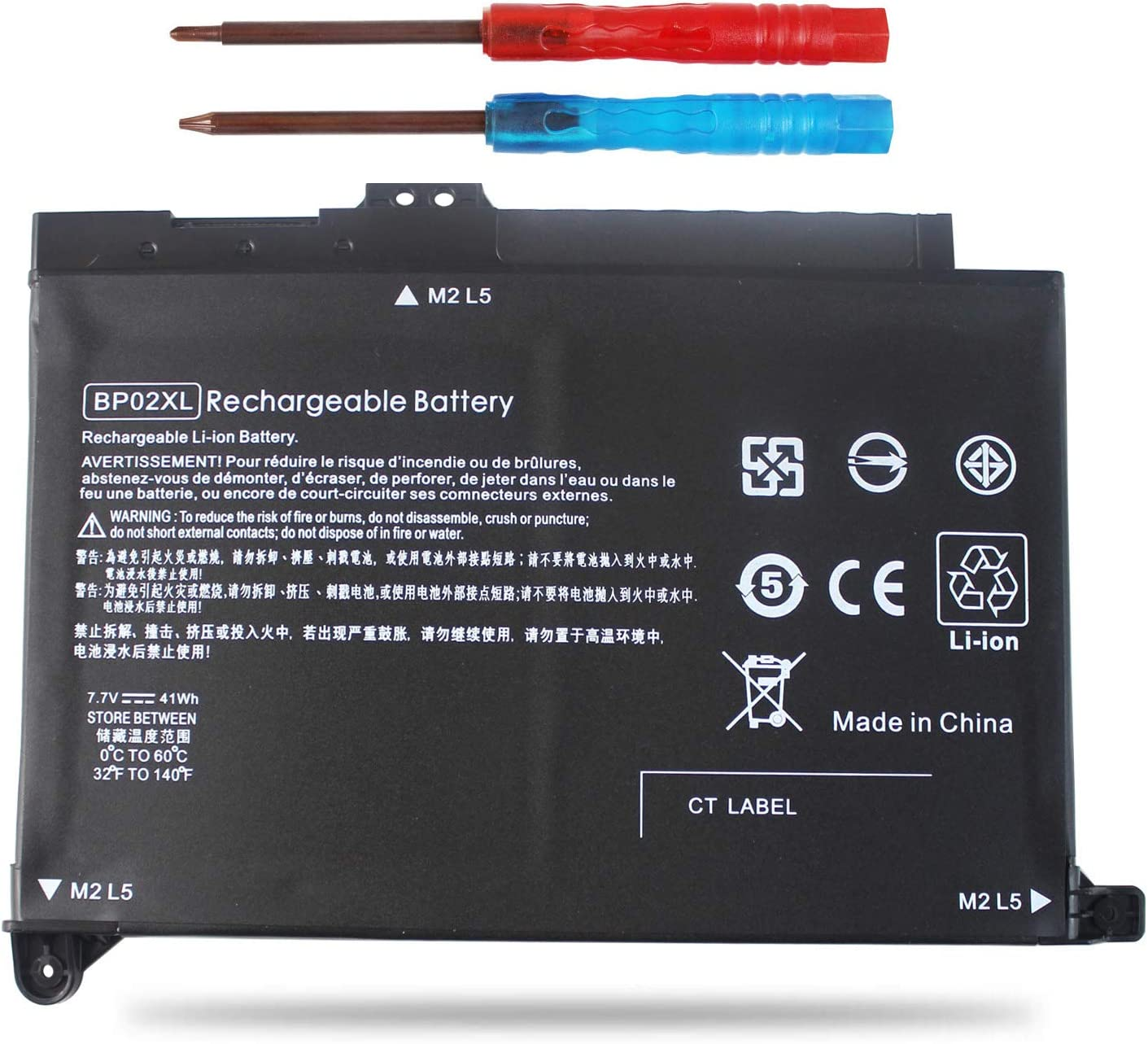 Easy&Fine BP02XL Replacement Laptop Battery for HP Pavilion PC 15 15-AW000 15-AU000 15-AU010WM 15-AU018WM Series HSTNN-UB7B HSTNN-LB7H BP02041XL 849569-421 849569-541 849569-542
