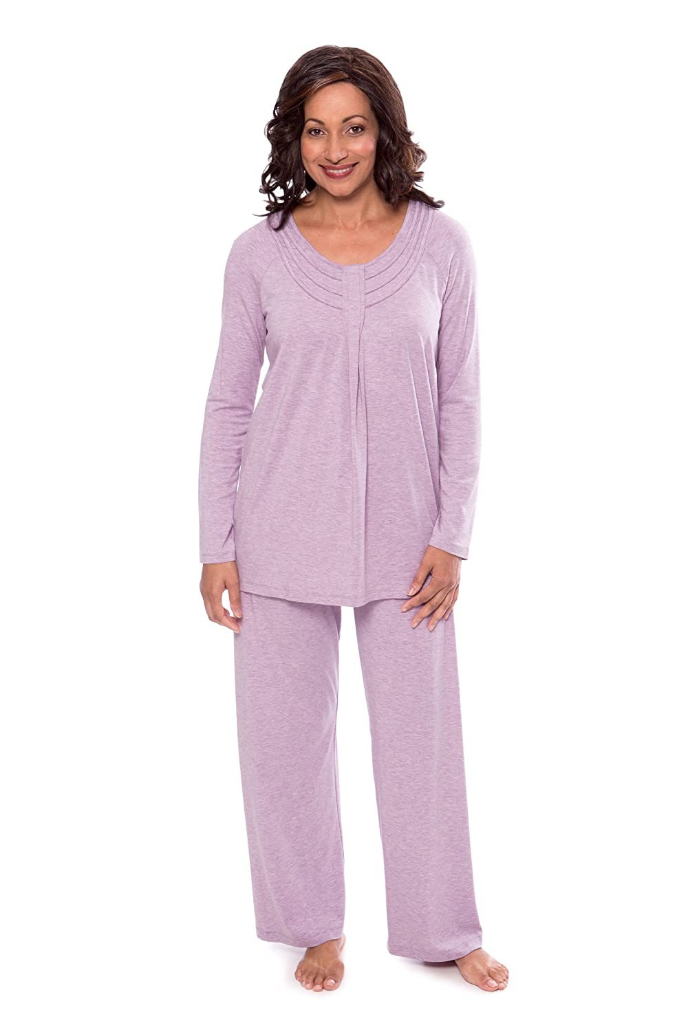 Texere Women's Long Sleeve Pajama Set - Stylish Cozy Pajamas for Her WB9996