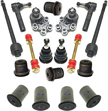 12 Pc Suspension Kit for Chevrolet Geo Toyota Control Arm Tie Rod End Ball Joint