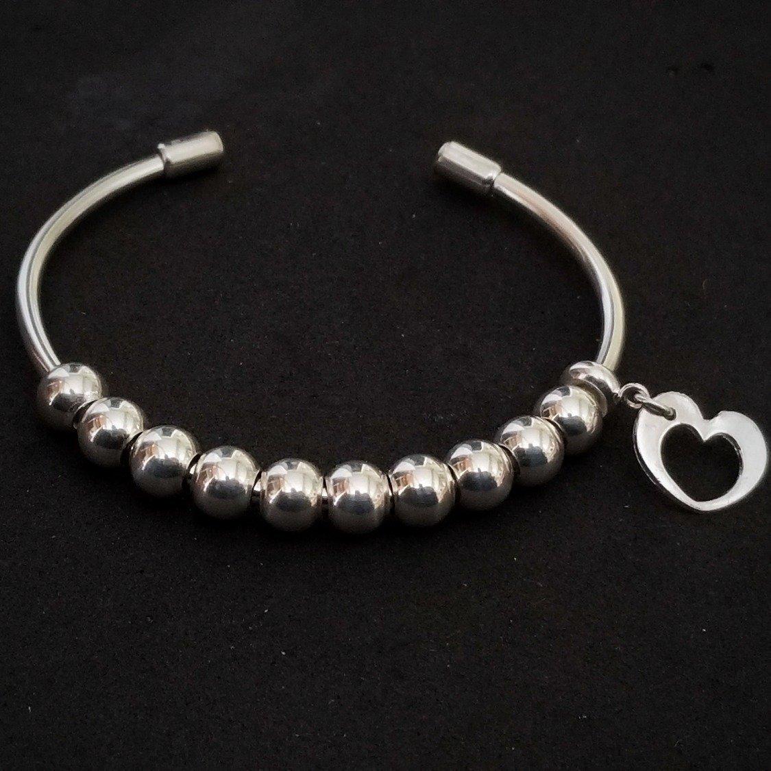 Blessings | Gratitude Bracelet | Sterling Silver | Beads Slide to Count Your Blessings