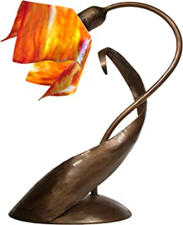 product image for Jezebel Signature TLLD-BBH-FP12-ZIN Flame Style Brown with Brown Highlights Lazy Daisy Lamp, Zinnia