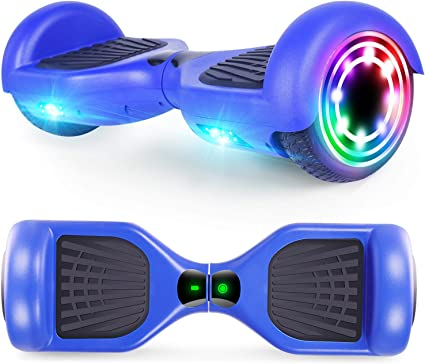Amazon Com Cbd Hoverboard For Kids 6 5 Inch Two Wheel Hoverboard Self Balancing Electric Scooter With Led Lights Ul2272 Certified X Blue Sports Outdoors