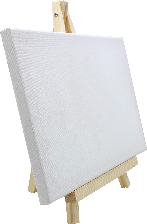 Exhibiciones y Convenciones 56817-18x24*6-0,05 Especial para presentaci/ón de lienzos y marcos- Ideal para Eventos Pack 6 unds |Uso inmediato Chely Intermarket Caballete pintura sobremesa 18x24 cm