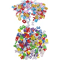 Abbraccia 350 Pack Assorted Number Foam Stickers for Kids Art,Craft and Education Toys