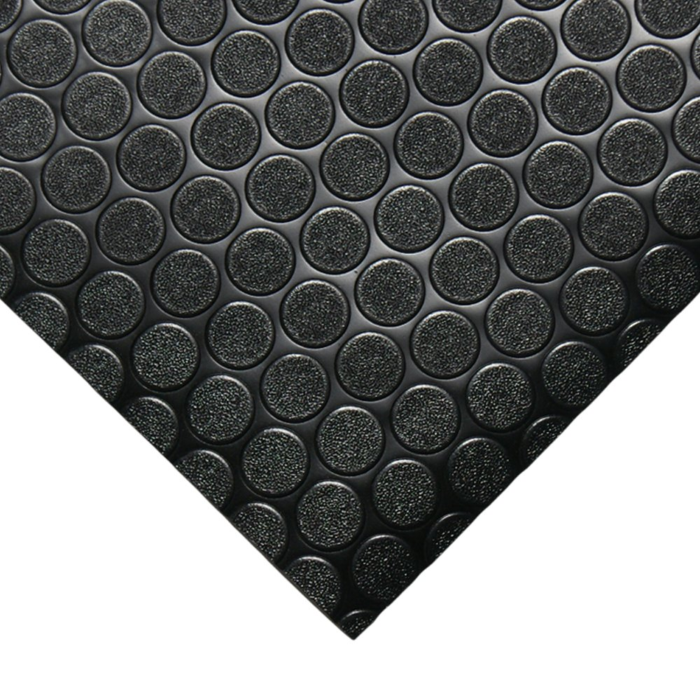 Rubber-Cal ''Coin-Grip Anti-Slip Rubber Mat - 2mm x 4ft x 15ft Rolled Rubber - Dark Gray by Rubber-Cal (Image #2)