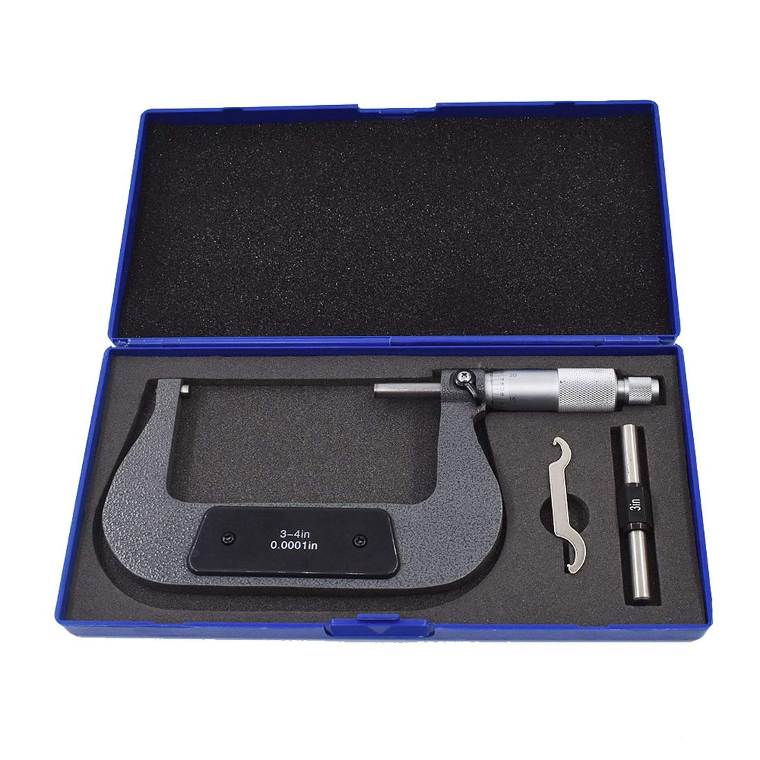 3-4 Precision Outside Micrometer 0.0001 Carbide Tipped for Precision Measurement Work