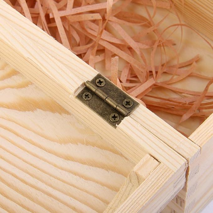 Caja Portadora Madera para Vino Botella Decoración Regalo 35x10x10cm: Amazon.es: Hogar