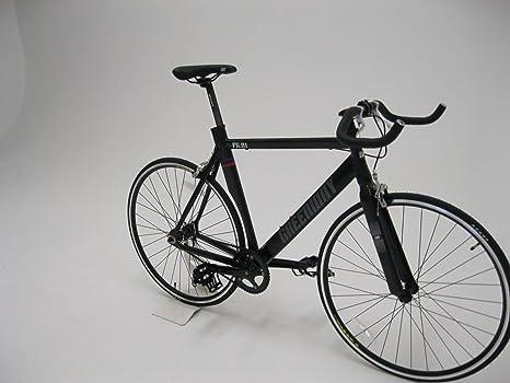 Fijo Gear sola velocidad bicicleta de carretera 700 C ruedas marco de aluminio 50 cm –