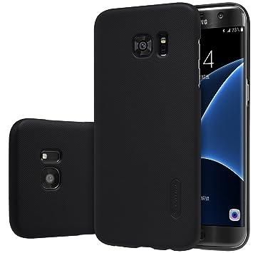 Nillkin Frosted Shield - Carcasa Trasera Protectora y Antideslizante + Film de Pantalla para Samsung Galaxy S7 Edge, Negro