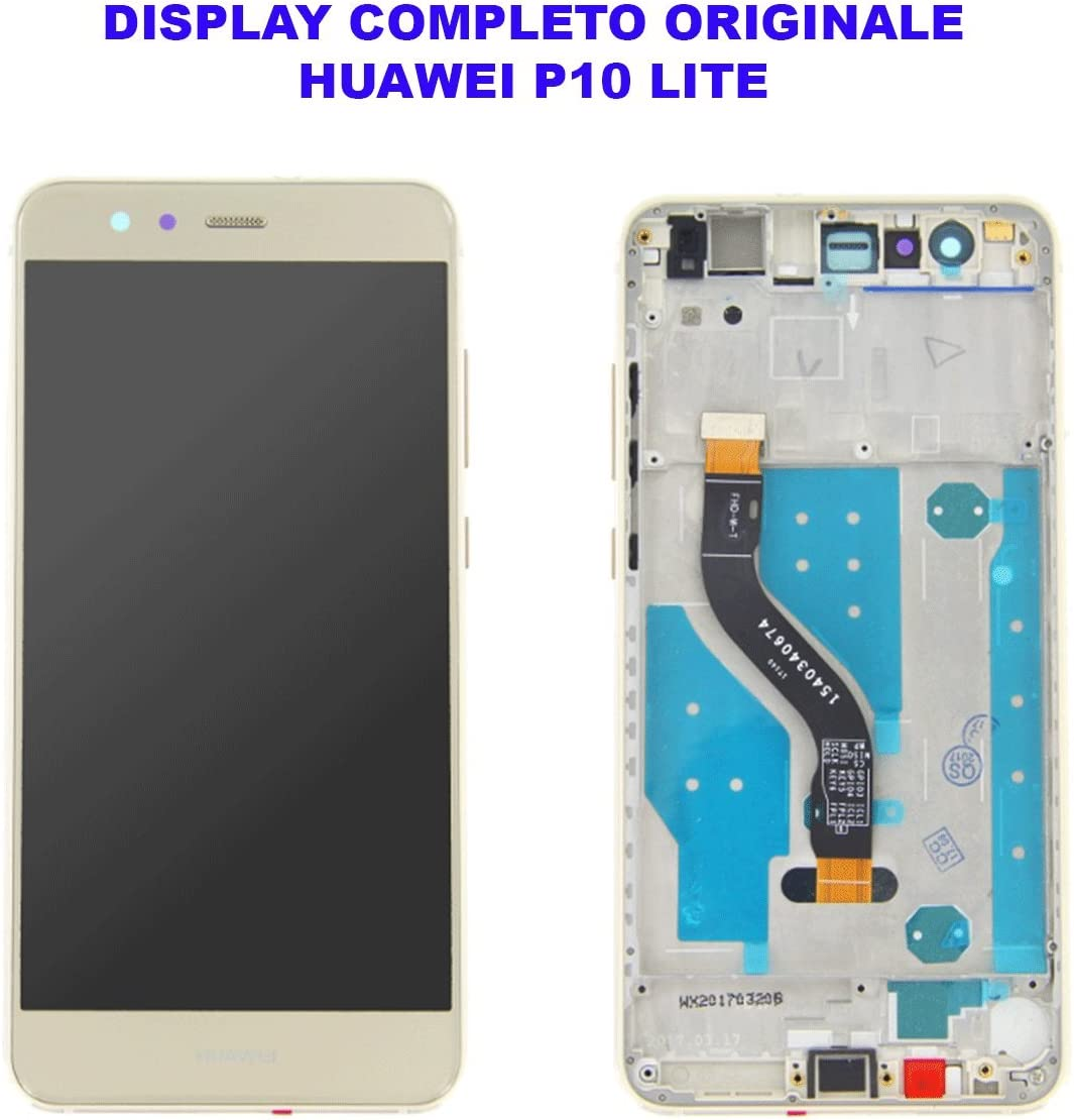 Cristal Pantalla Pantalla LCD Touch Screen Huawei P10 Lite Negro Black Original completo marco marco FRAME was-lx1 lx1 a: Amazon.es: Electrónica