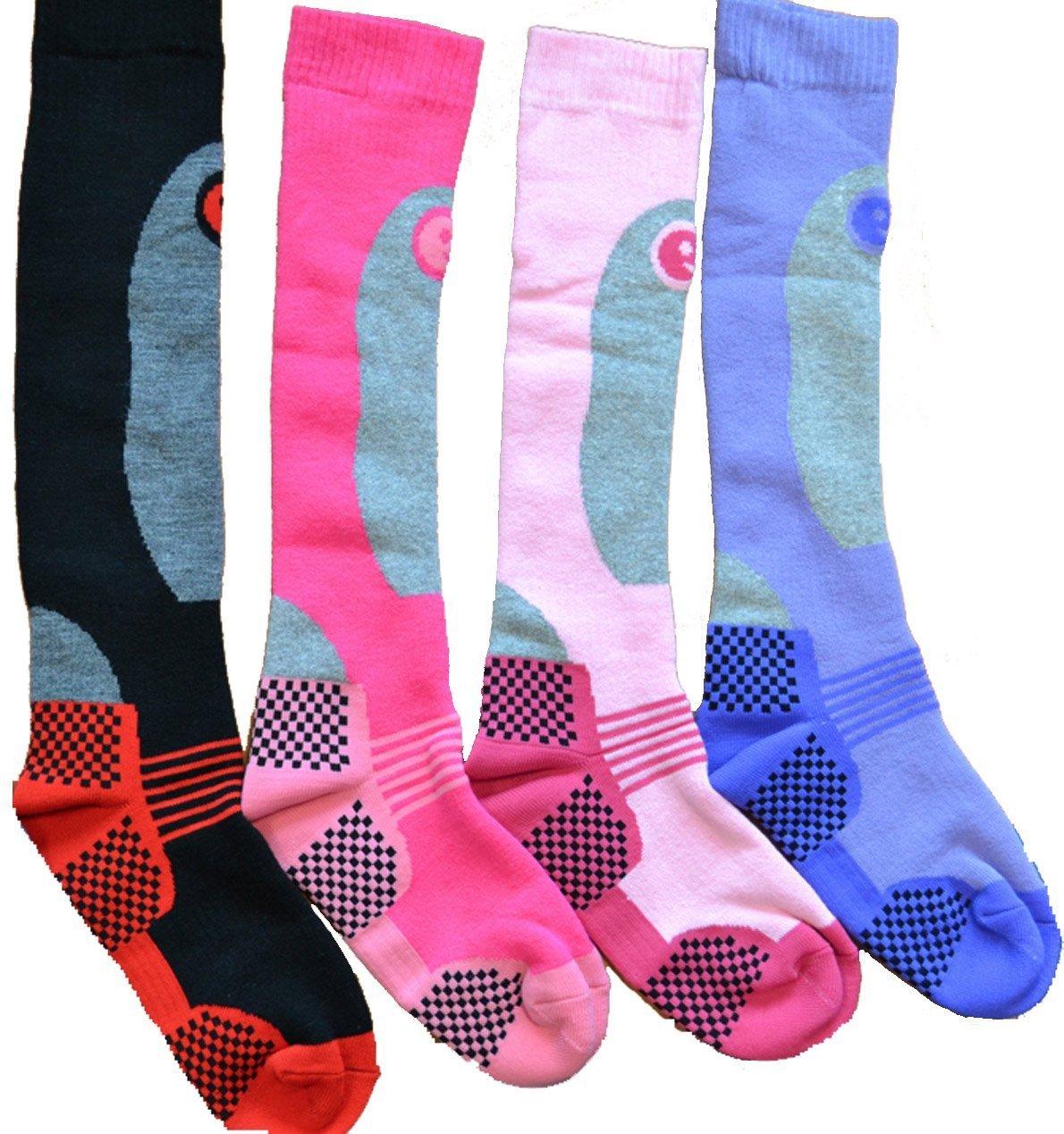 Women's Pack of 4 Long Hose High Performance Ski Socks (US 6.5-9.5) SportsCenter