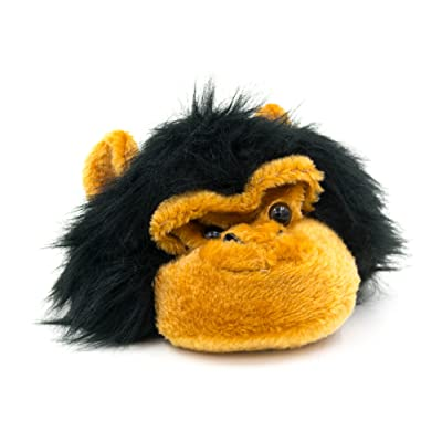Jiglz Big Boys' Furry Animal Hat With Hook And Loop Chin Straps