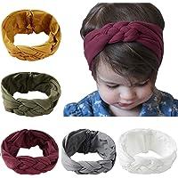 De feuilles Chic-Chic 6PCS Baby Girls Knitting Headbands Flower Bow Turban Hair Band Photography Props …