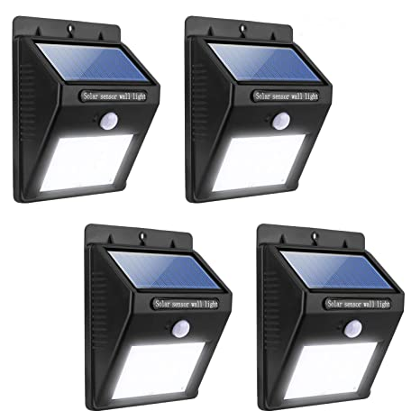pretty nice aa85f 4491a Miserwe Solar Led Lights 4 Pack Solar Motion Light 20 LED ...