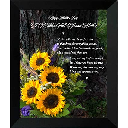 to my wife on mothers day sweet poem from husband in 8x10 inch frame