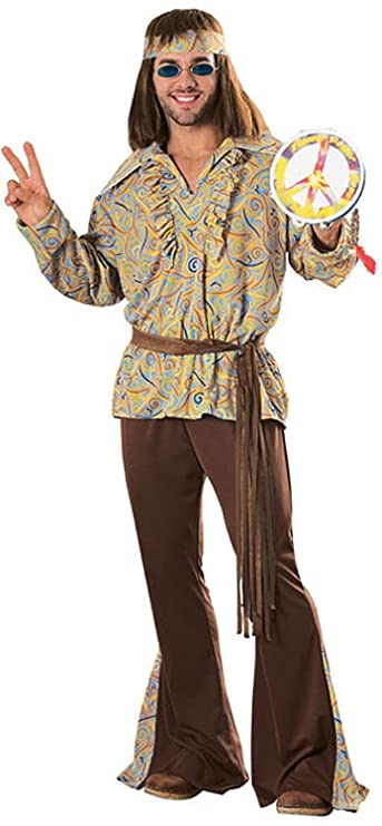 Hippie Dress | Long, Boho, Vintage, 70s Mod Marvin Adult Costume $39.91 AT vintagedancer.com