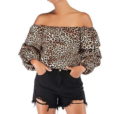 Sudaderas Adolescentes Chicas, Manga Larga de Leopardo con Estampado de Leopardo, Sudaderas Mujer con Capucha Estampado Blusa Tops Camiseta de Manga Larga: ...
