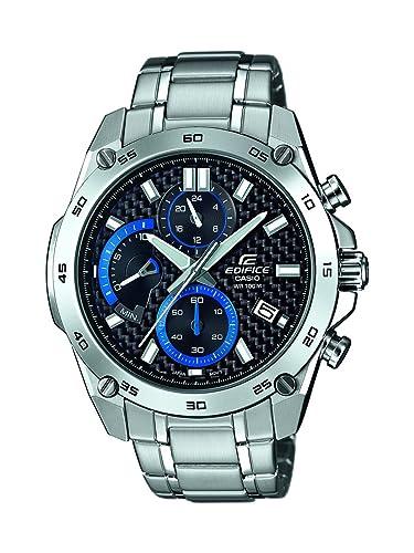 Casio Reloj Analogico para Hombre de Cuarzo con Correa en Acero Inoxidable EFR-557CD-1AVUEF: Amazon.es: Relojes
