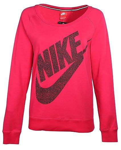 Rouge Rond Mezzo Femme L Nike À Rally Col Pour Sweatshirt rdoeCWQxBE