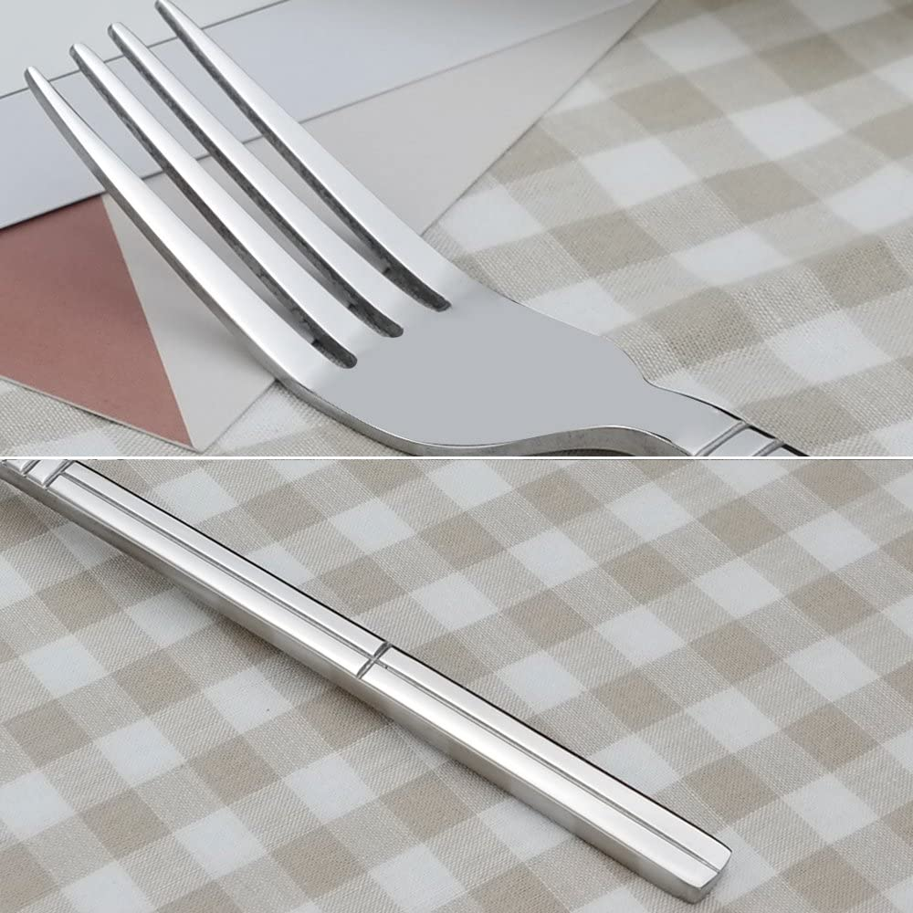 Saedy 12-Piece Dinner Forks Stainless Steel Home Kitchen & Dining ...
