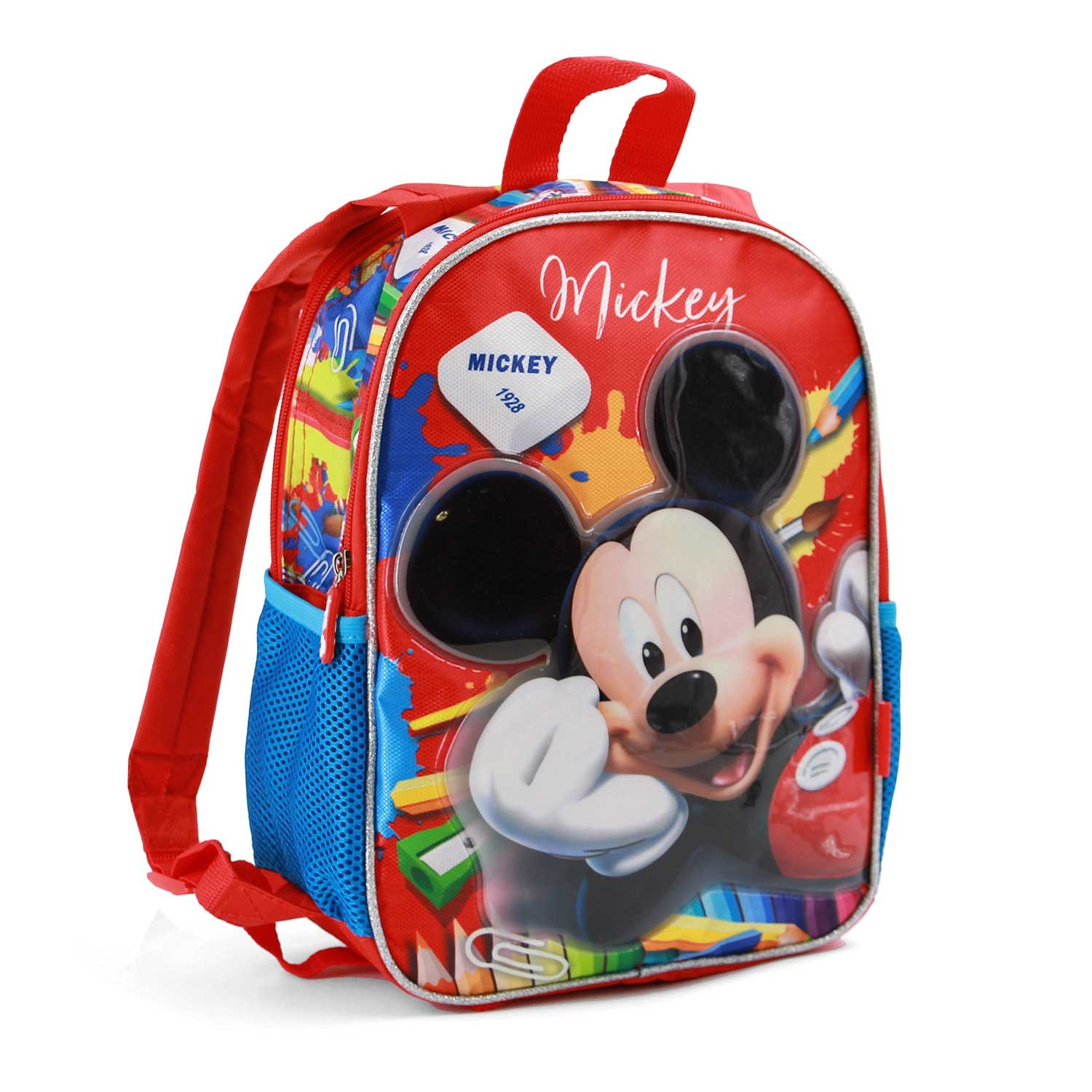 Karactermania Mickey Mouse Crayons-Dual Backpack (Small) Sac à Dos Enfants, 32 cm, 9.25 liters, Rouge (Red) 37511