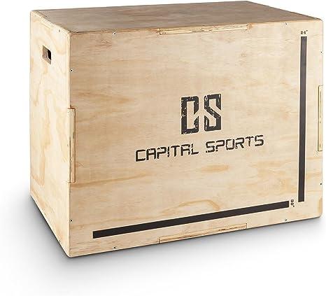 CapitalSports Shineater Caja de Salto pliométrica (3 Alturas de 20