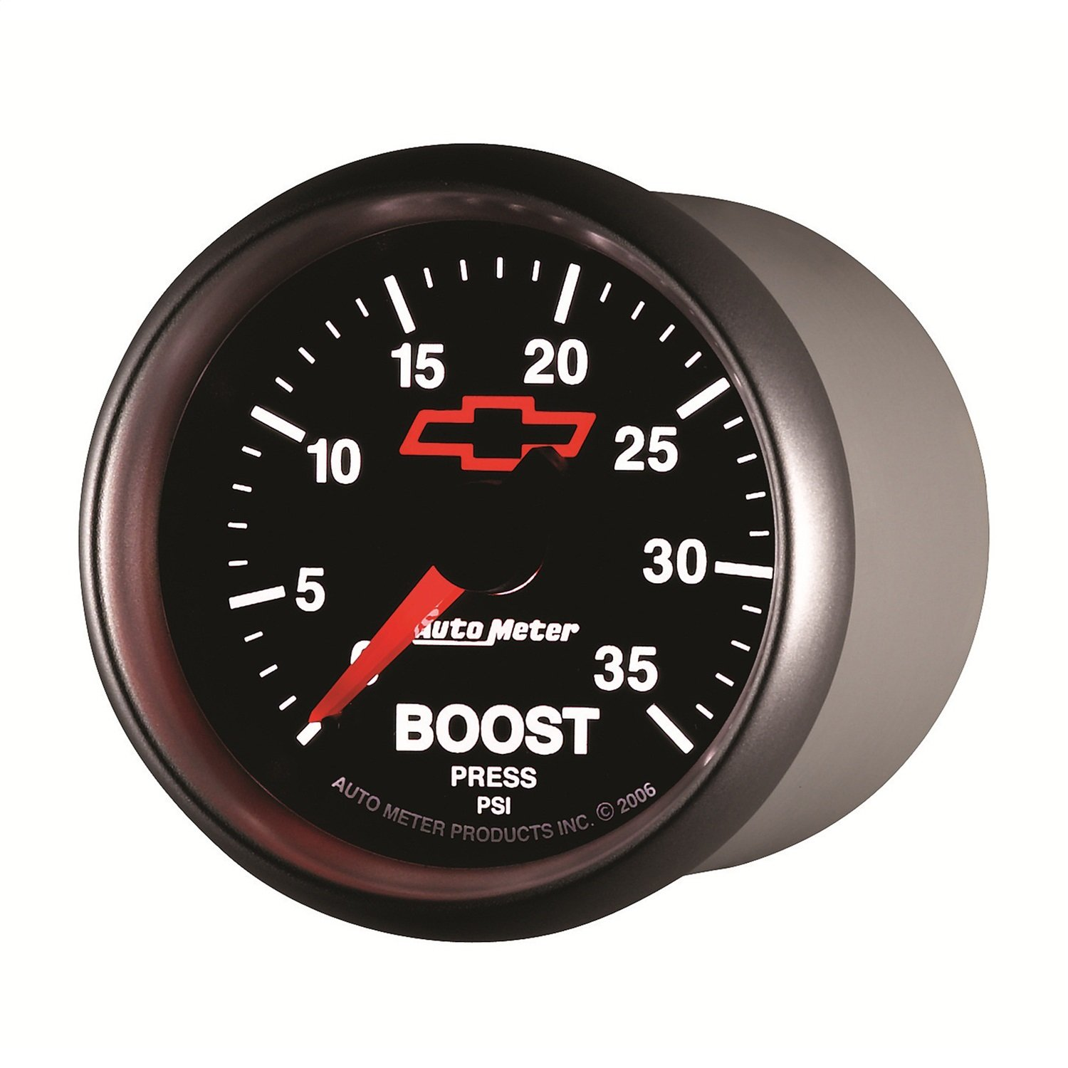 Auto Meter 3604-00406 GM Performance Parts Red 2-1/16' 0-35 PSI Mechanical Boost Gauge