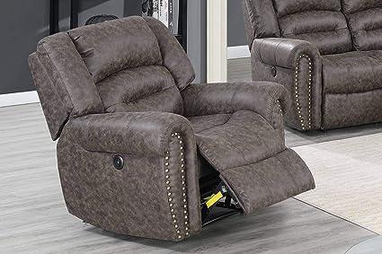 Awesome Amazon Com 3Pcs Modern Taupe Palomino Fabric Power Sofa Spiritservingveterans Wood Chair Design Ideas Spiritservingveteransorg