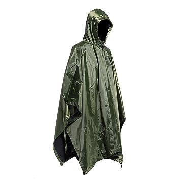 Chubasquero Chaqueta Capa Impermeable Lluvia para Hombre ...