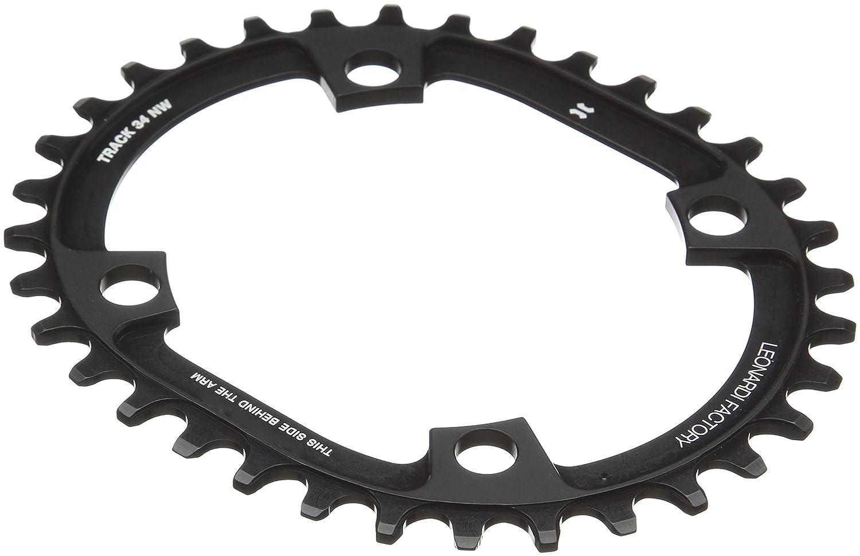 Color Negro Leonardi Factory Oval Track BCD 104 Plato de Bicicleta