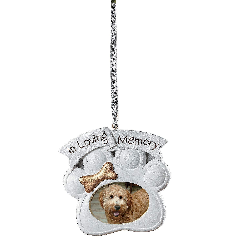 Amazon.com: Loving Memory Dog Memorial Christmas Ornament Photo ...