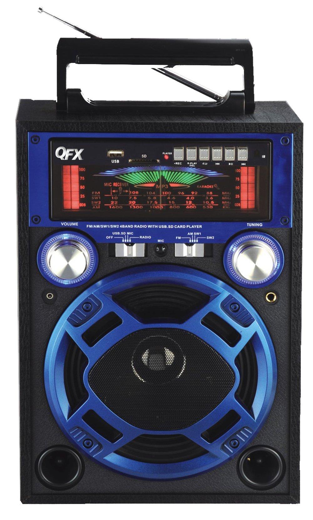 QFX CS-116BLUE Karaoke Multimedia Speaker - Blue