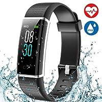 Montre Connectée Smartwatch Podometre Écran Couleur Etanche IP68 Montre Cardiofrequencemetre Sommeil pour Femme Homme Enfant 14 Multi-Sports Rappel d'Appel et SMS Compatible avec Android iOS Aneken