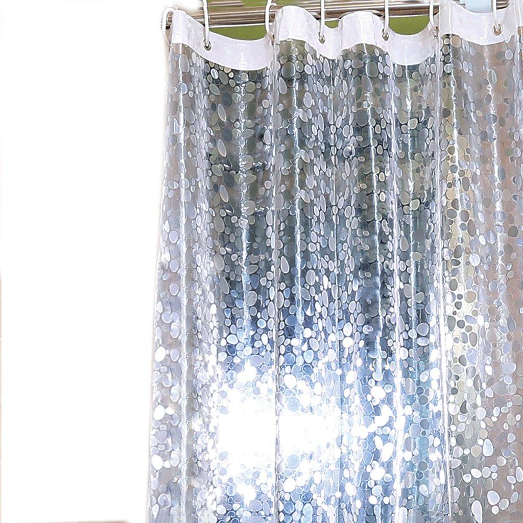 KUN PENG SHOP Impermeabile e anti - muffa Trasparente Trasparente Motivo ornamentale ovale spessore ultra - largo Cord Bath A+ ( dimensioni : 120×180cm(47.24*70.86in) )