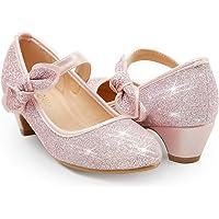 ADAMUMU Low Heel Princes Dress Shoes Toddler Shoes Sparkle Girls Mary Jane Wedding Shoes Flower for Children in Wedding…